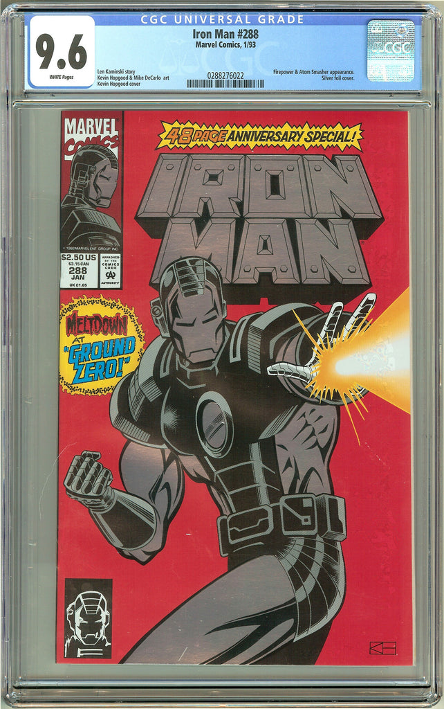 Iron Man #288 (1993) CGC 9.6 White Pages 0288276022
