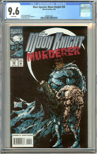 Marc Spector: Moon Knight #59 CGC 9.6 White Pages 0289632024 Stephen Platt