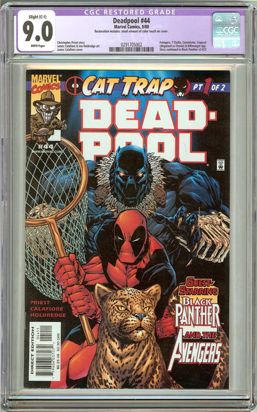 Deadpool #44 (2000) CGC Restored Grade 9.0 White Pages 0291705002