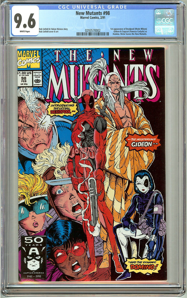 The New Mutants #98 (1991) CGC 9.6 White Pages 0293570002 1st appea. of Deadpool