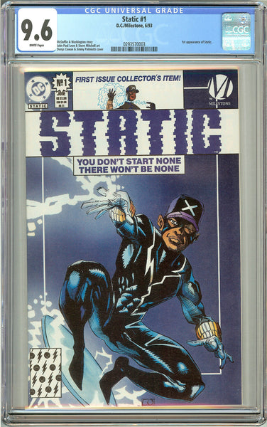 Static #1 (1993) CGC 9.6 White Pages 0293570003
