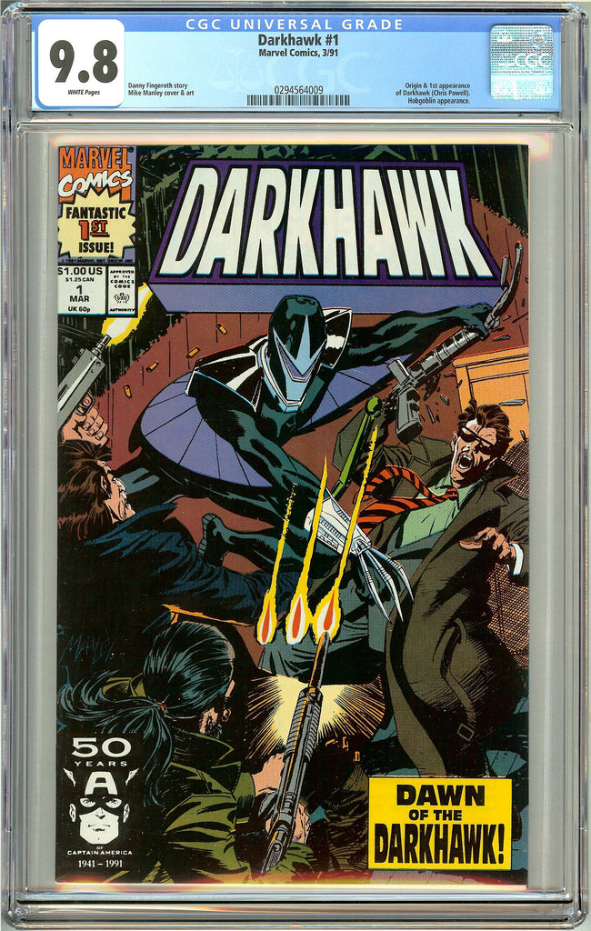 Darkhawk #1 (1991) CGC 9.8 White Pages 0294564009