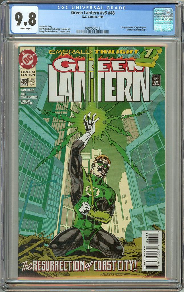 Green Lantern #48 (1994) CGC 9.8 White Pages 0294564017 1st Kyle Rayner