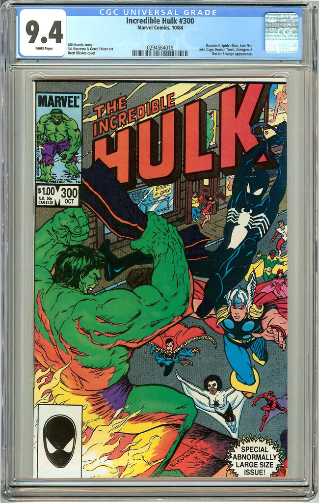 Incredible Hulk #300 (1984) CGC 9.4 White Pages 0294564019