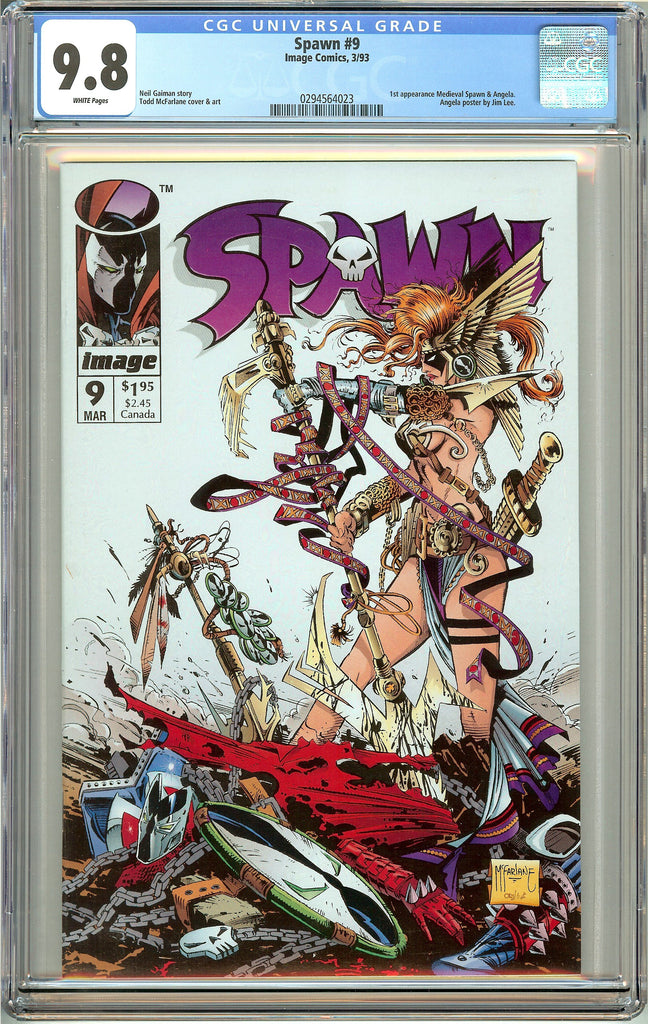 Spawn #9 (1993) CGC 9.8 White Pages 0294564023 1st Angela