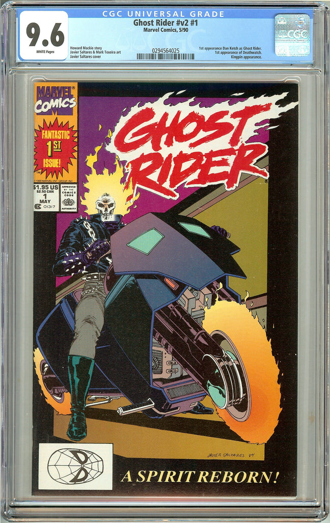Ghost Rider #1 (1990) CGC 9.6 White Pages 0294564025