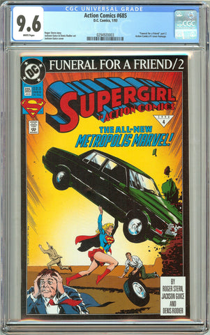 Action Comics #685 (1993) CGC 9.6 White Pages 0294920003