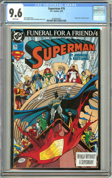 Superman #76 (1993) CGC 9.6 White Pages 0294920007