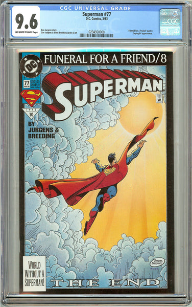 Superman #77 (1993) CGC 9.6 Off-White to White Pages 0294920008