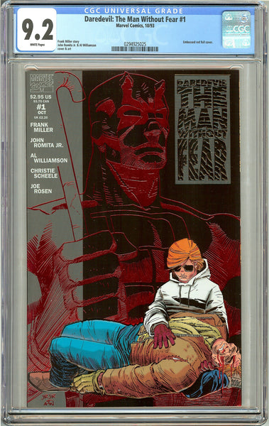 Daredevil: The Man Without Fear #1 (1993) CGC 9.2 White Pages 0294925025