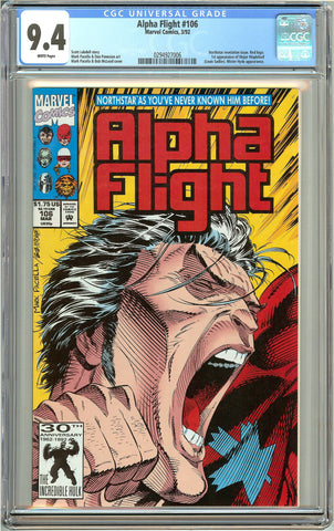 Alpha Flight #106 (1992) CGC 9.4 White Pages 0294927006