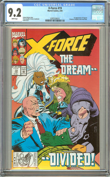 X-Force #19 (1993) CGC 9.2 White Pages 0297520010