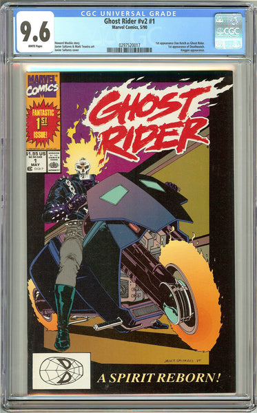 Ghost Rider #1 (1990) CGC 9.6 White Pages 0297520017
