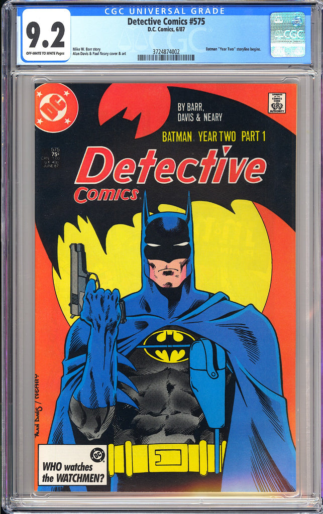 Detective Comics #575 CGC 9.2 OW to WP 1987 3724874002 Batman Year 2 storyline