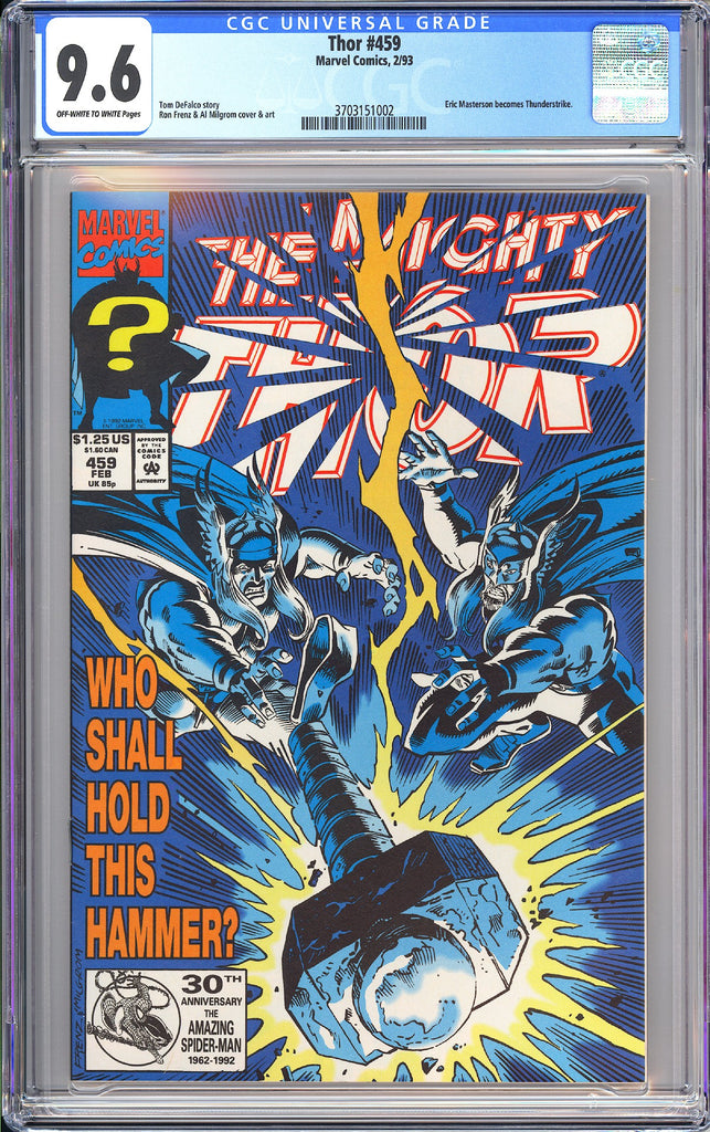Thor #459 CGC 9.6 OWT White Pages (1993) 3703151002
