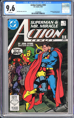 Action Comics #593 CGC 9.6 WP 1987 3755989002 Controversial Issue!