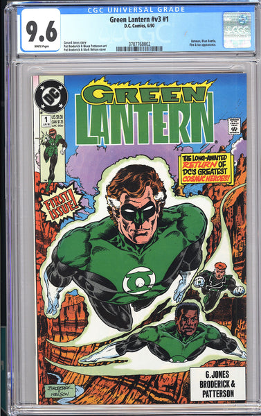 Green Lantern #v3 #1 CGC 9.6 White Pages (1990) 3707768002