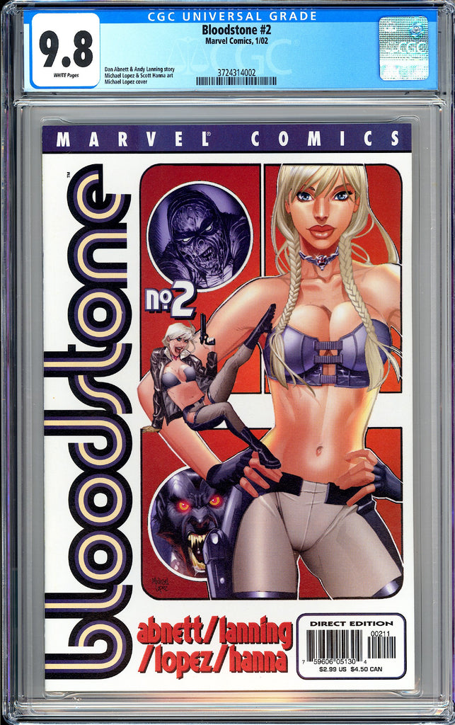 Bloodstone #2 CGC 9.8 White Pages 2002 3724314002 Elsa Bloodstone