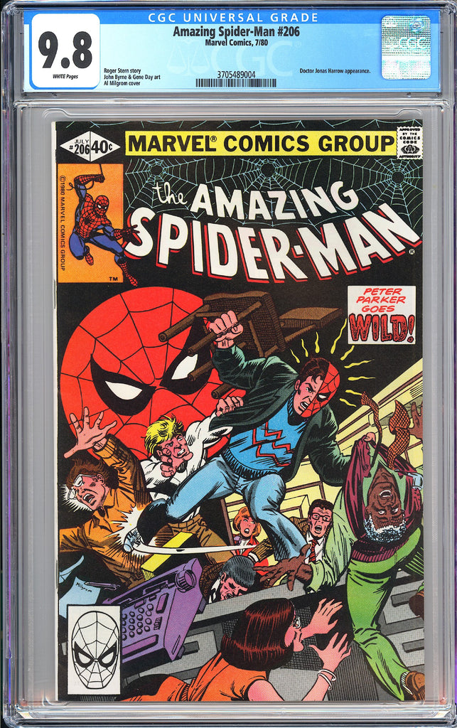 Amazing Spider-Man #206 CGC 9.8 White Pages (1980) 3705489004