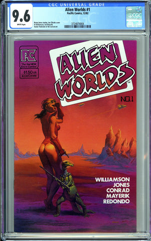 Alien Worlds #1 CGC 9.6 White Pages 1982 3724874004 Pacific Comics