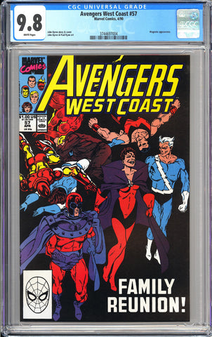 Avengers West Coast #57 CGC 9.8 WP 1990 3744697004 Magneto Appearance