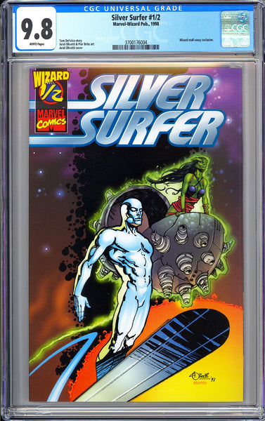 Silver Surfer #1/2 CGC 9.8 White Pages (1998) 3700176004 Wizard mail-away