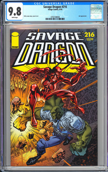 Savage Dragon #216 CGC 9.8 White Pages 2016 3703146004 Ant appearance