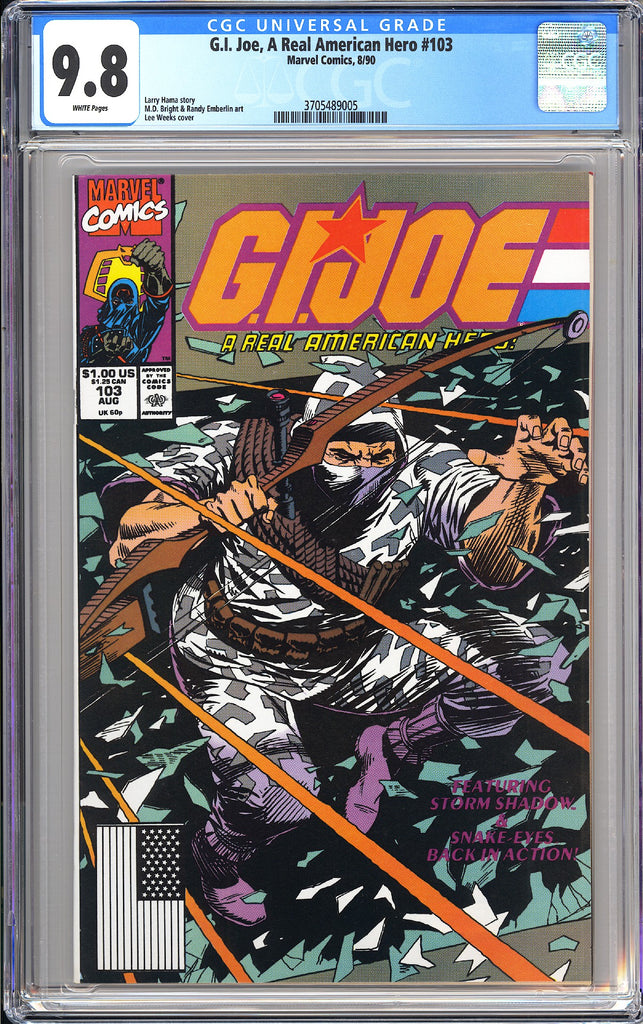GI Joe A Real American Hero #103 CGC 9.8 White Pages 1990 3705489005