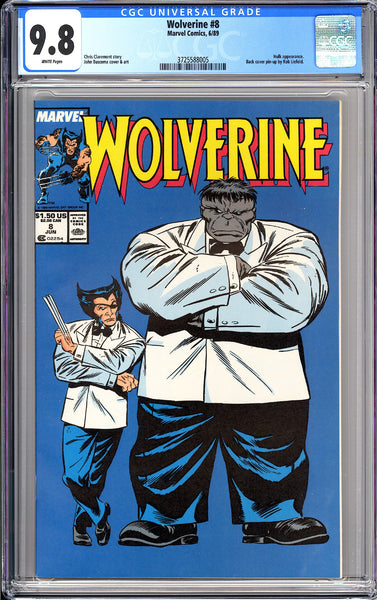 Wolverine #8 CGC 9.8 White Pages 1989 3725588005