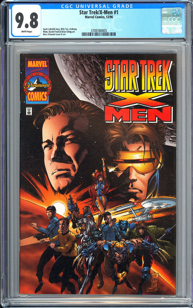 Star Trek/X-Men #1 CGC 9.8 White Pages (1996) 3700180005