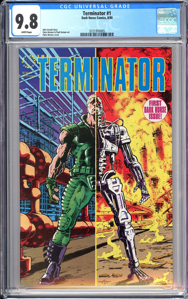 Terminator #1 CGC 9.8 White Pages 1990 3721916005 The 1st Dark Horse Comic Movie
