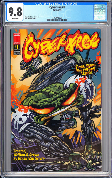 Cyberfrog #1 CGC 9.8 White Pages 1996 3703146005