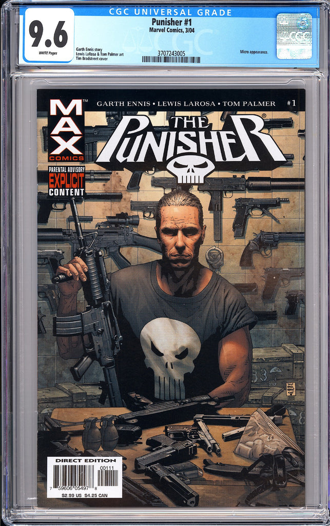 Punisher  #1 CGC 9.6 WP 2004 3707243005 Micro Appearance