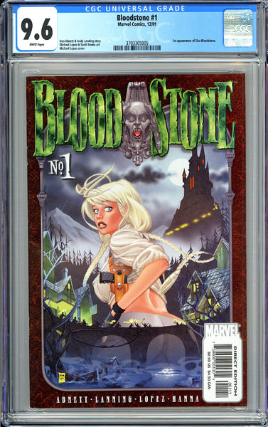 Bloodstone #1 CGC 9.6 White Pages 3703305005 1st Elsa Bloodstone