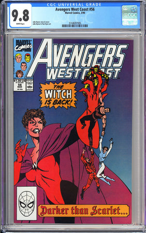 Avengers West Coast #56 CGC 9.8 WP 1990 3744697005 1st Dark Scarlet Witch