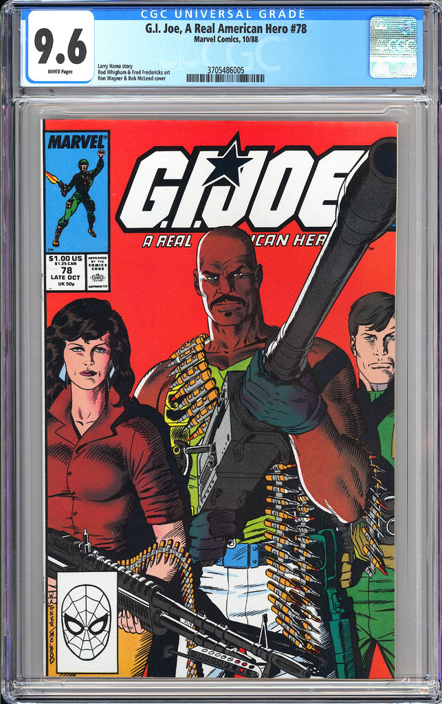 G.I. Joe A Real American Hero #78 CGC 9.6 WP 1988 3705486005  Storm Shadow