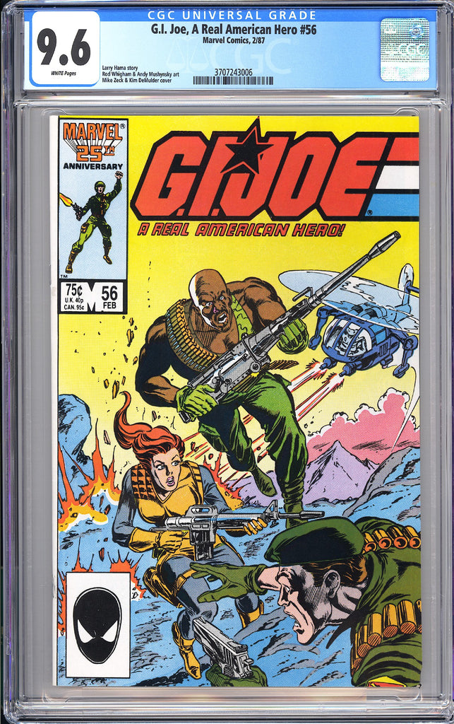 G.I. Joe, A Real American Hero #56 CGC 9.6 White Pages 1987 3707243006