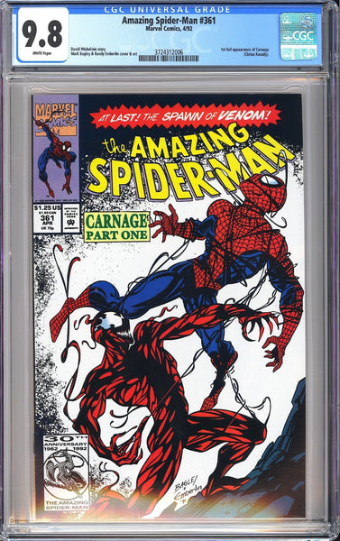Amazing Spider-Man #361 CGC 9.8 WP 1992 3724312006 1st Full Appearance Carnage