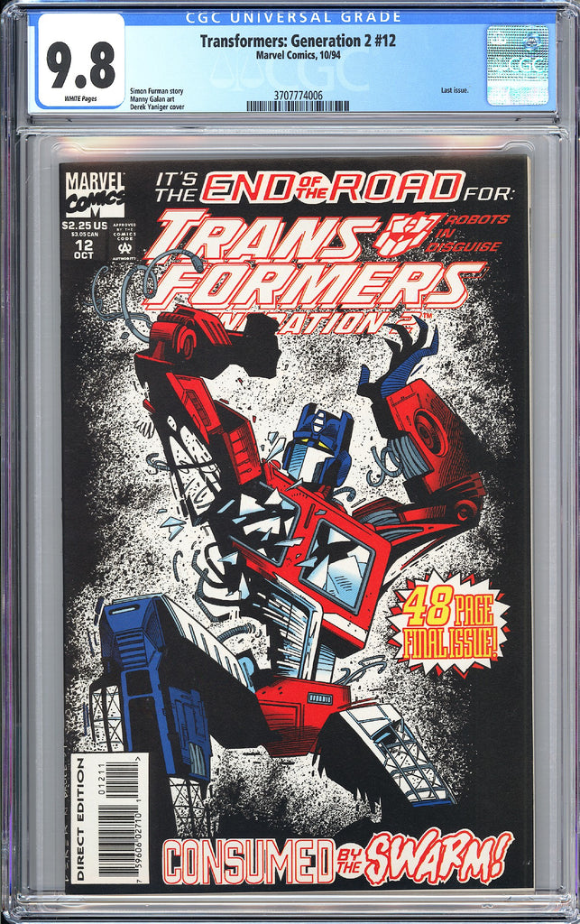 Transformers Generation 2 #12 CGC 9.8 White Pages (1994) 3707774006 Last Issue