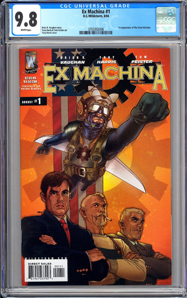 Ex Machina #1 CGC 9.8 White Pages 2004 3703302006 1st Great Machine
