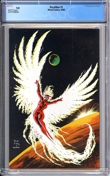 Excalibur #1 CGC 9.8 White Pages (1988) 3707768006 1st Widget