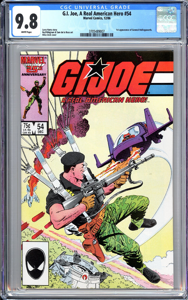 G.I. Joe A Real American Hero #54 CGC 9.8 White Pages 1987 3705489007
