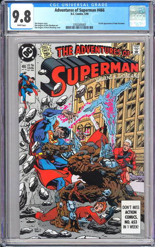 Adventures of Superman #466 CGC 9.8 WP 1990 3703305007 1st Full Hank Henshaw