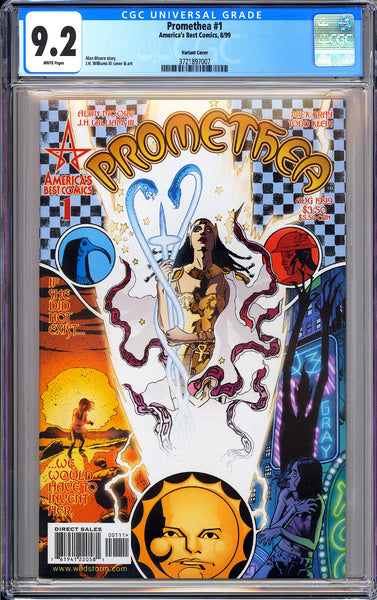 Promethea #1 CGC 9.2 White Pages 1999 3721897007 Variant Cover