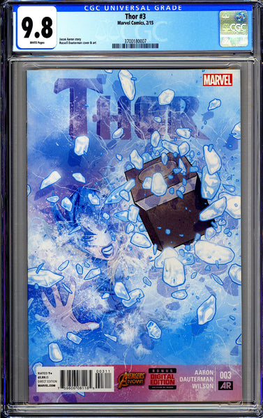 Thor #3 CGC 9.8 White Pages 2015 3700180007