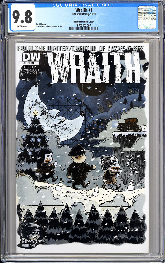 Wraith #1 CGC 9.8 White Pages (2012) 3703302007 Phantom Variant Cover