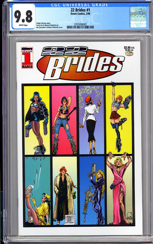 22 Brides #1 CGC 9.8 WP 1996 3707456007 1st Appearance of Painkiller Jane