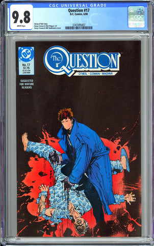 Question #17 CGC 9.8 WP 1988 3747495007 1st Rorschach from Watchmen