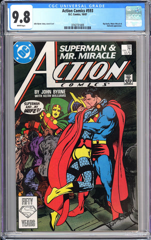Action Comics #593 CGC 9.8 WP 1987 3742731009 Controversial Issue!