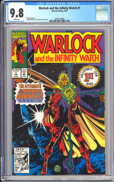 Warlock and the Infinity Watch #1 CGC 9.8 White Pages (1992) 3707774009